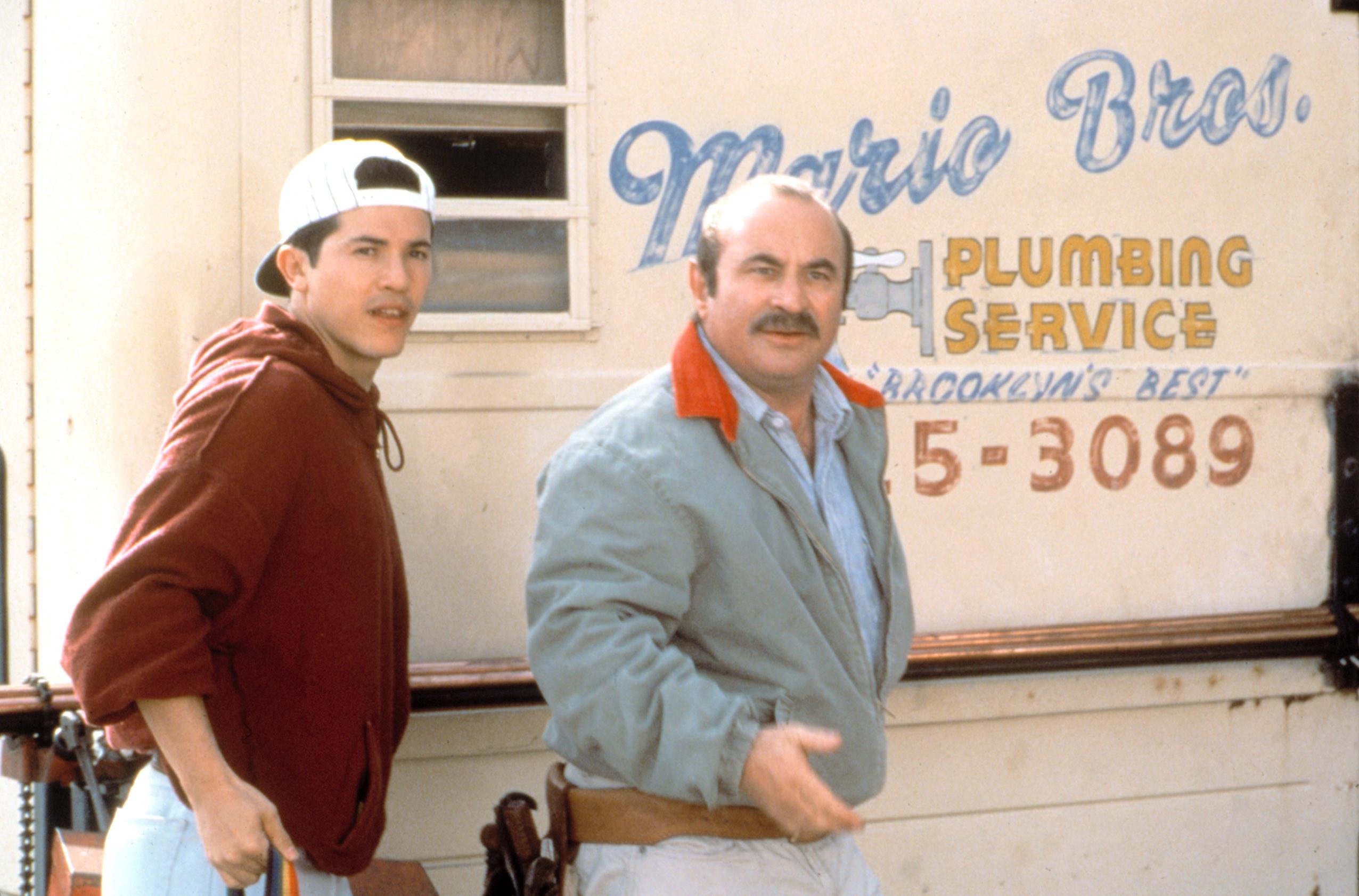 """John Leguizamo and Bob Hoskins in """"Super Mario Bros."""""""