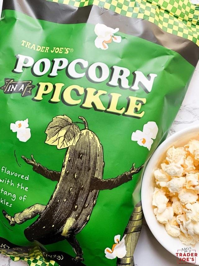 A bag of pickle flavored popcorn.