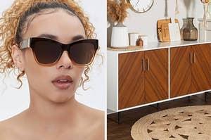 太阳镜和储物柜