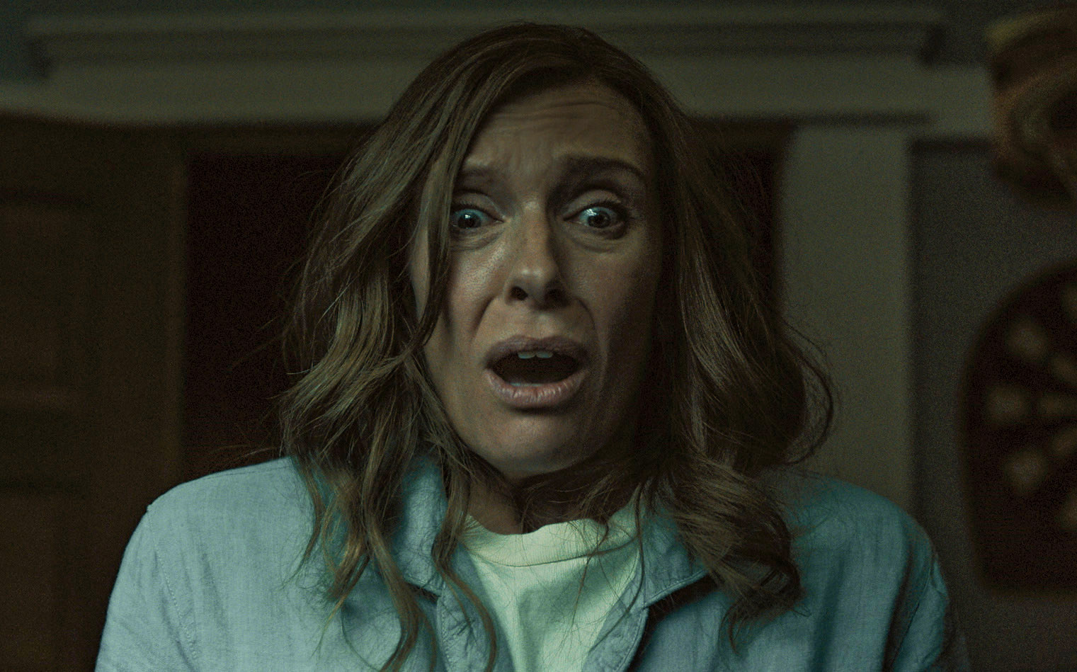 """Toni Collette terrified in """"Hereditary"""""""