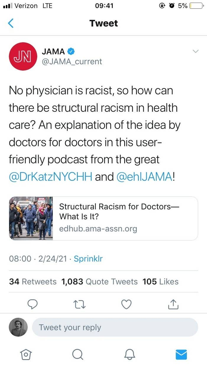 JAMA's tweet about the podcast