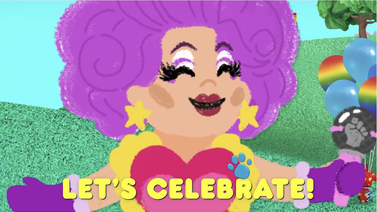 尼娜·韦斯特在游行中说;让';我们庆祝一下&引用;