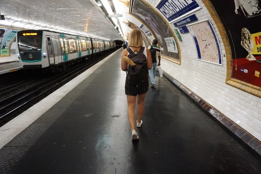 Woman in the metro in Paris