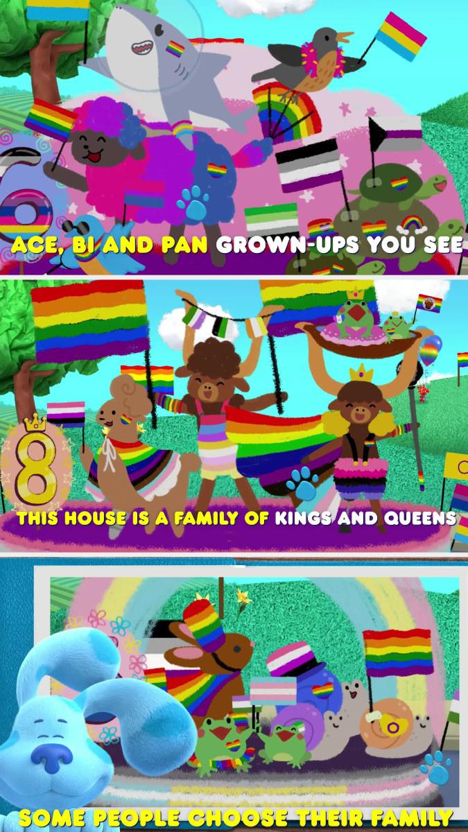 王牌,毕族和泛人,国王和王后,以及精选家庭的卡通