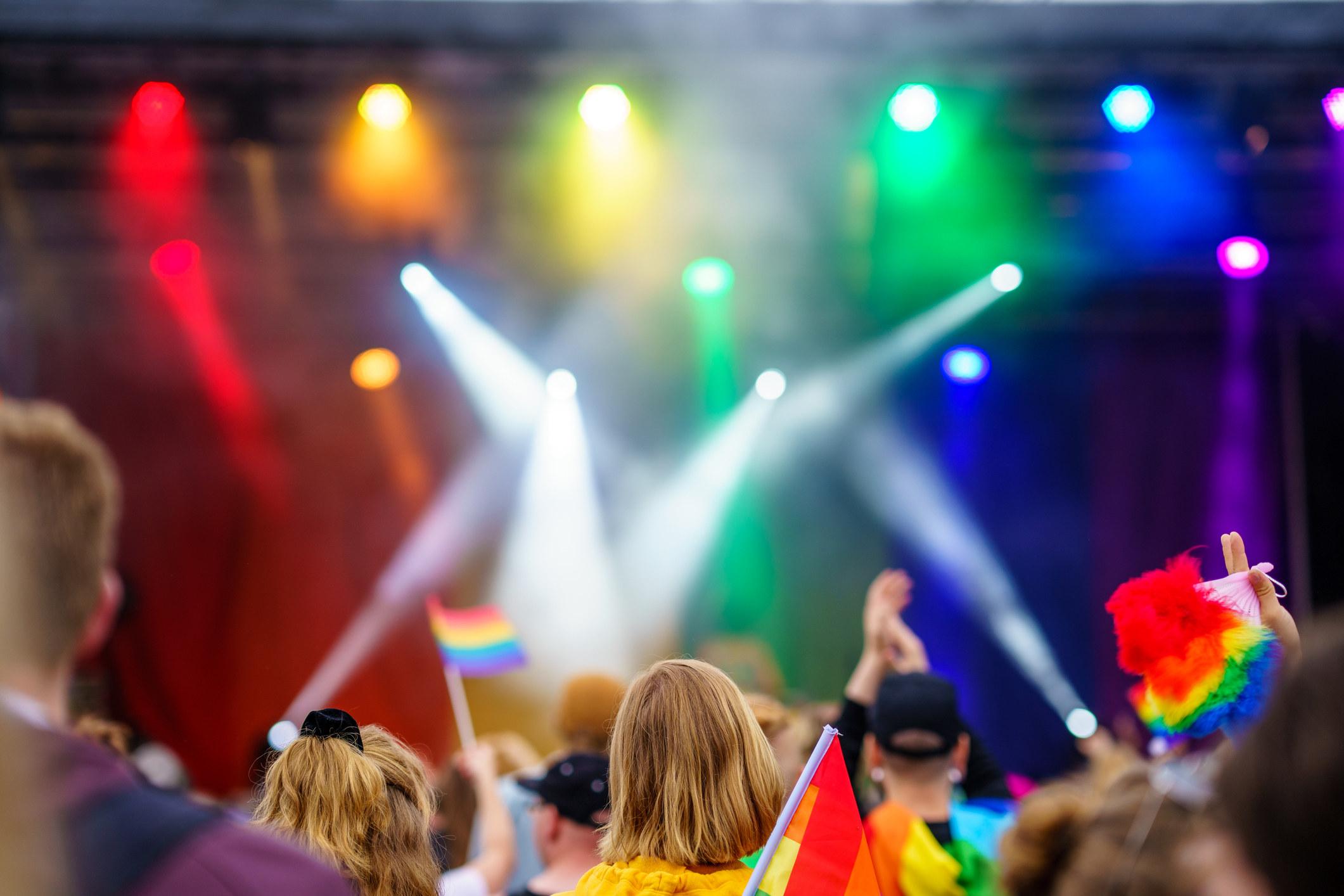 Music event at a Pride festival