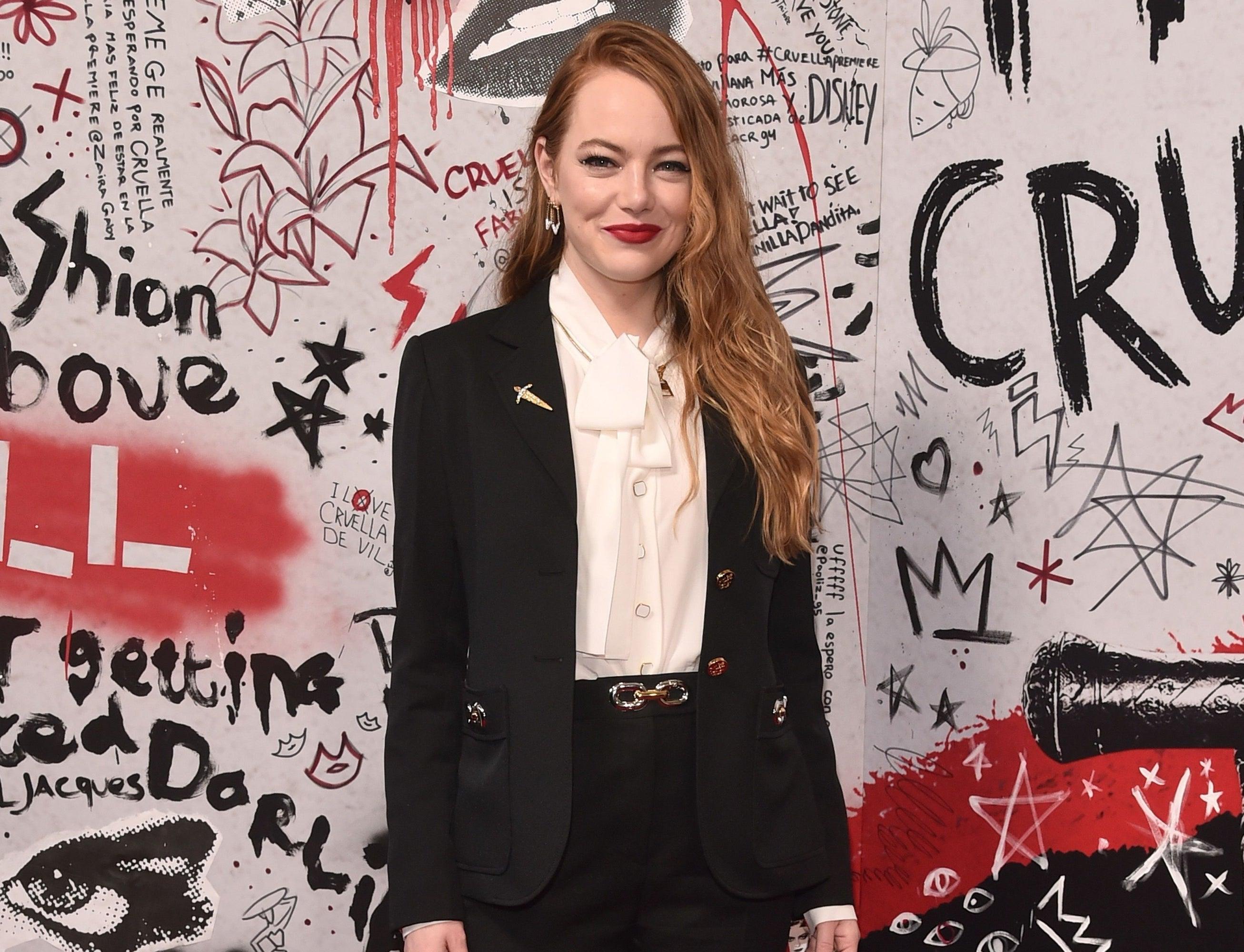 Emma attends the Cruella premiere