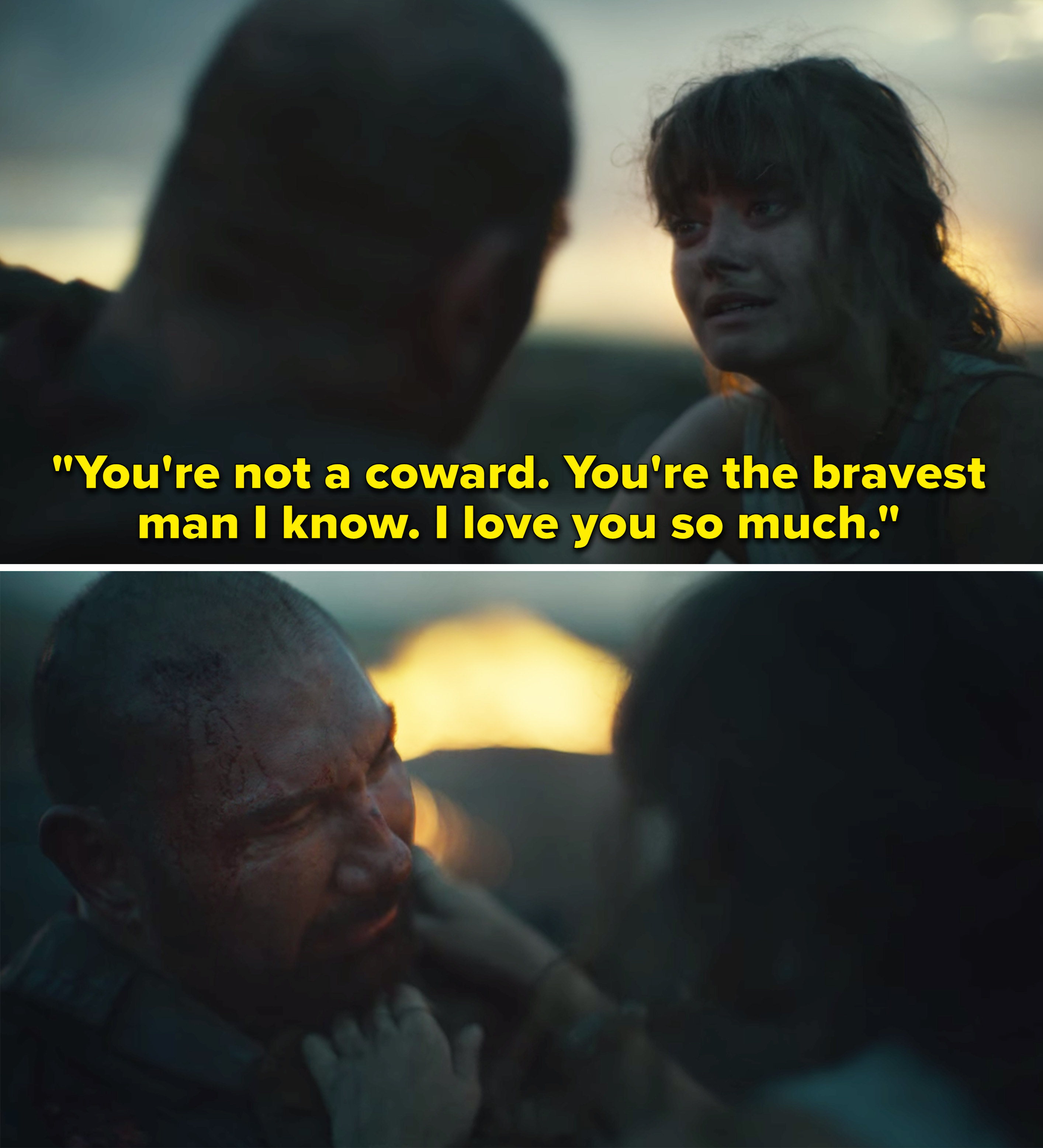 """Kate telling Scott, """"You're not a coward. You're the bravest man I know. I love you so much"""""""