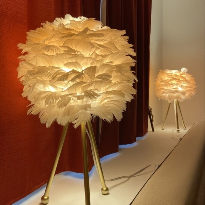 The lamps in white, on and glowing from the inside. It's frankly gorgeous!
