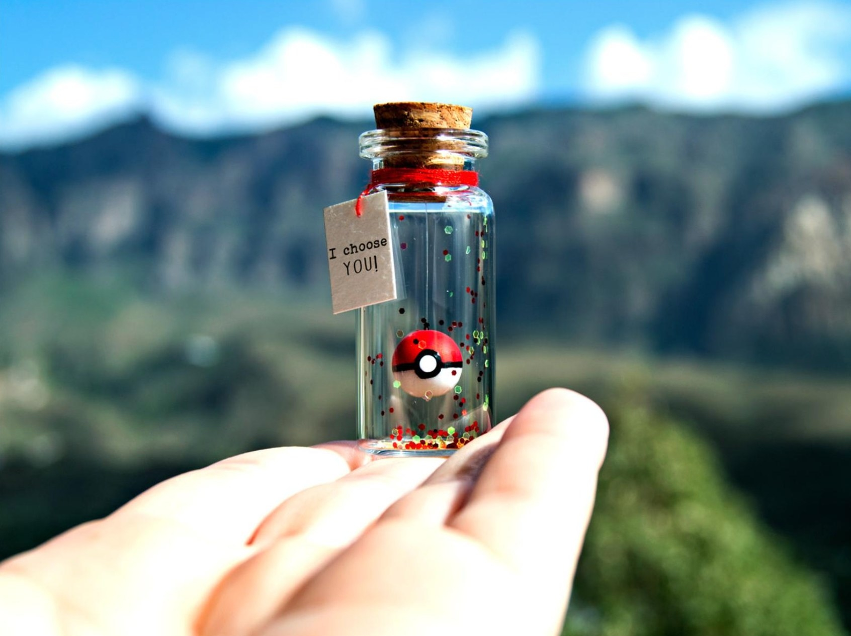 """The Pokemon gift with a message that says """"I choose you"""""""