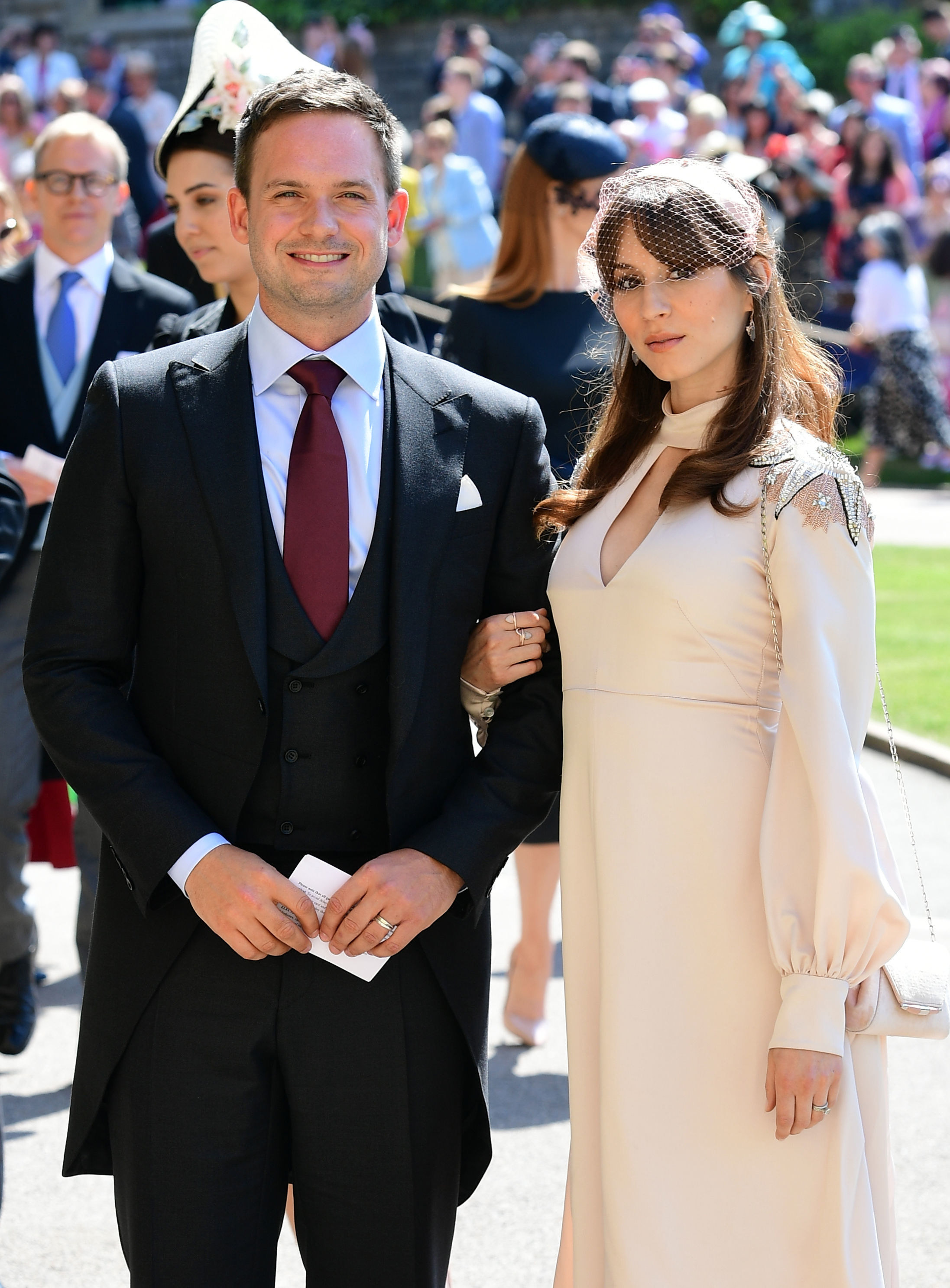 Patrick and Troian at the wedding of Prince Harry and Meghan Markle