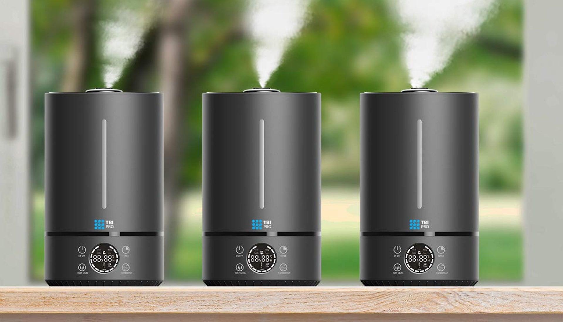 three humidifiers