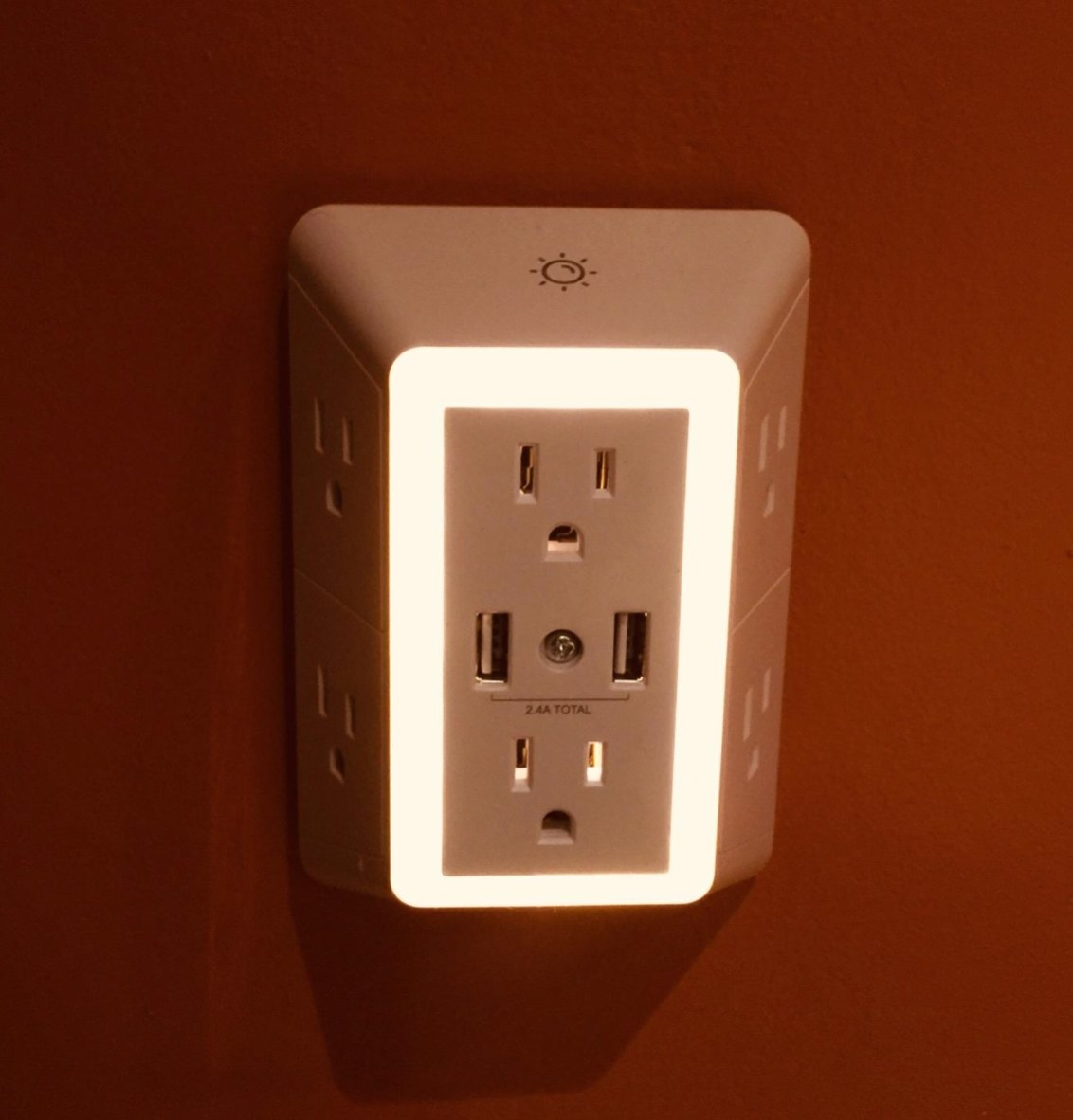 The USB wall charger and surge protector