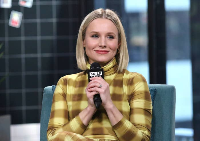 Actress Kristen Bell attends the Build Series to discuss her product line Hello Bello at Build Studio on February 21, 2020 in New York City