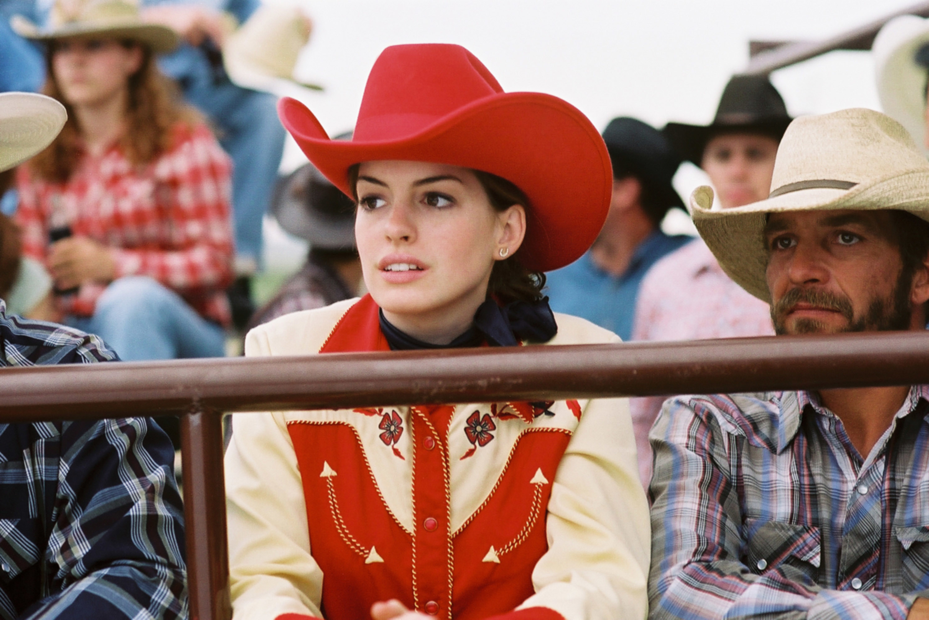 Anne Hathaway in a rodeo outfit in the movie
