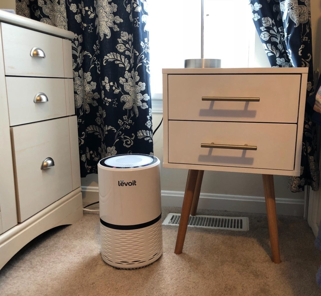 The air purifier in white