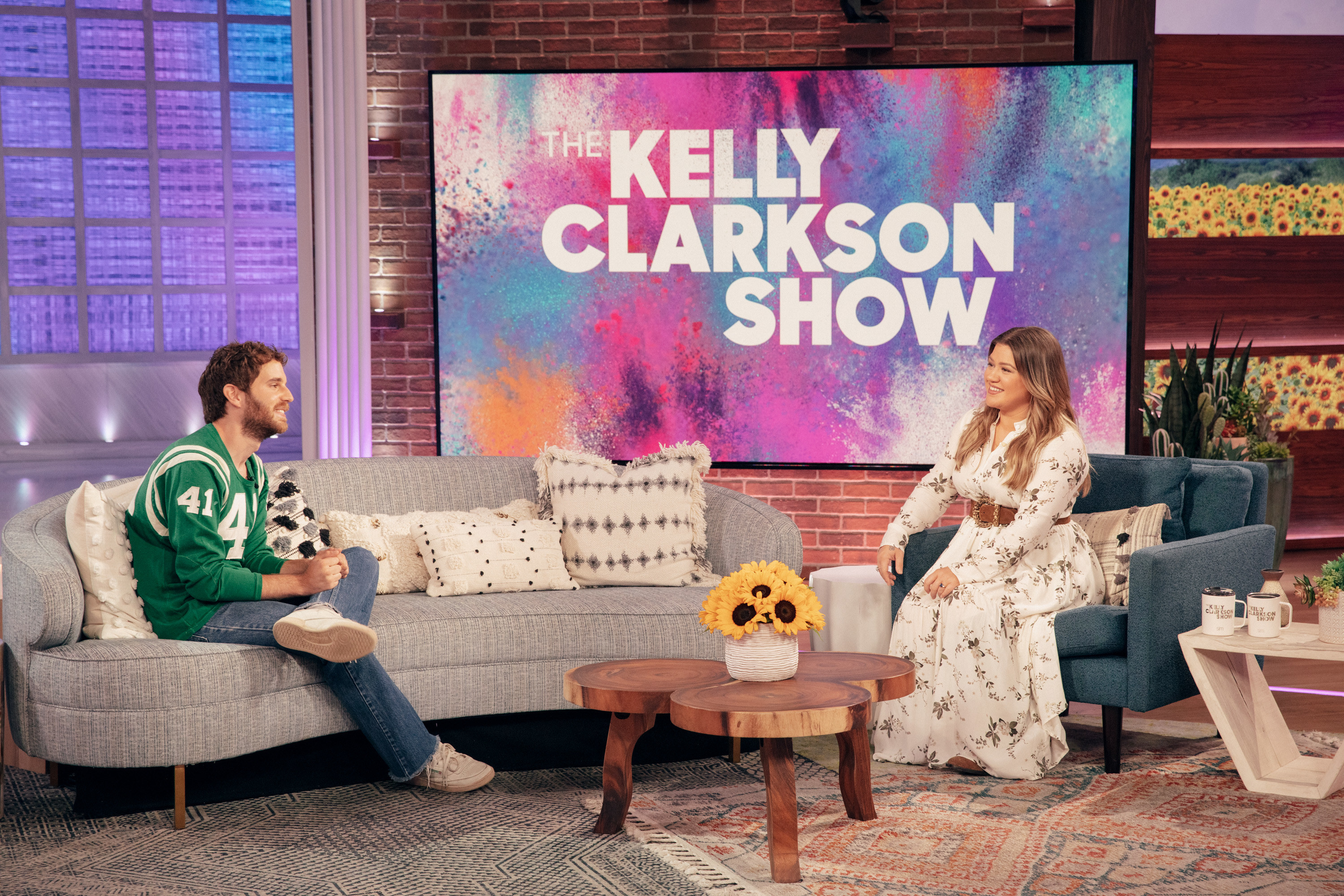 """Ben Platt and Kelly Clarkson chat on set of """"The Kelly Clarkson Show"""""""