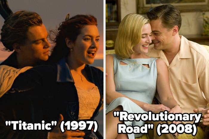 """Jack and Rose in """"Titanic"""" and April and Frank in """"Revolutionary Road"""""""