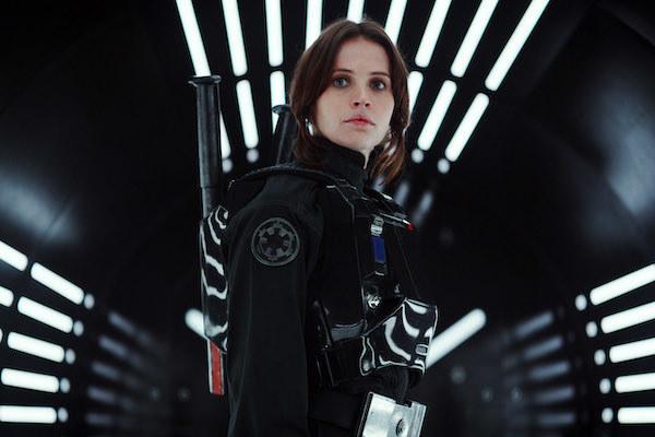 Felicity Jones looking very heroic.