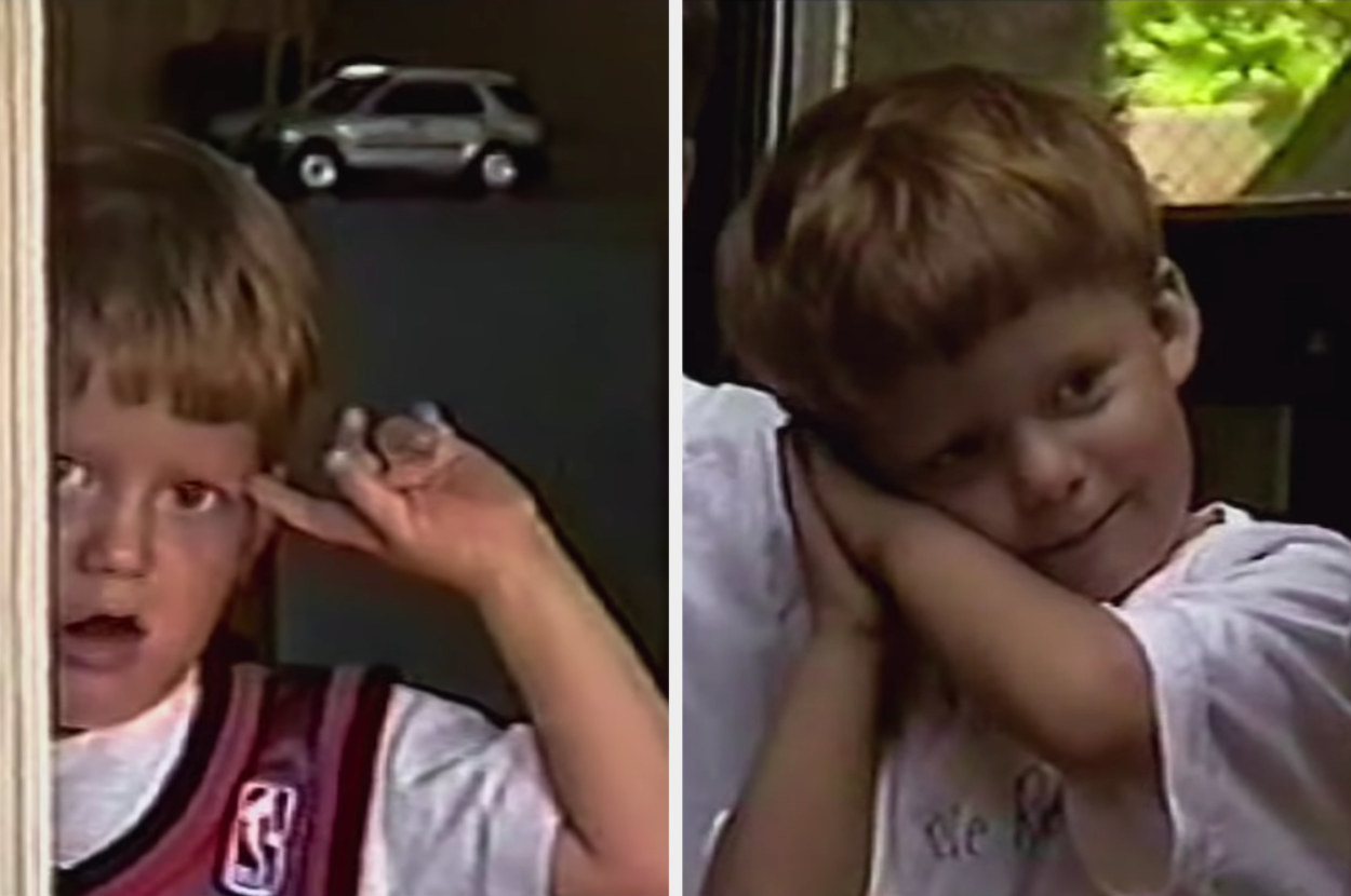 Two images of baby Lucas Hedges that ended up in the movie