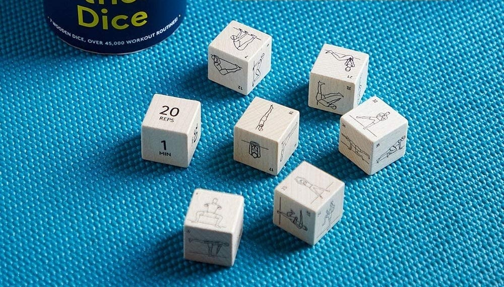 The white fitness dice