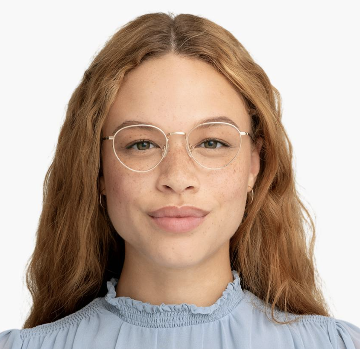 person with the glasses on
