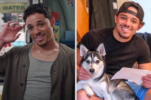 Side-by-sides of Anthony Ramos in