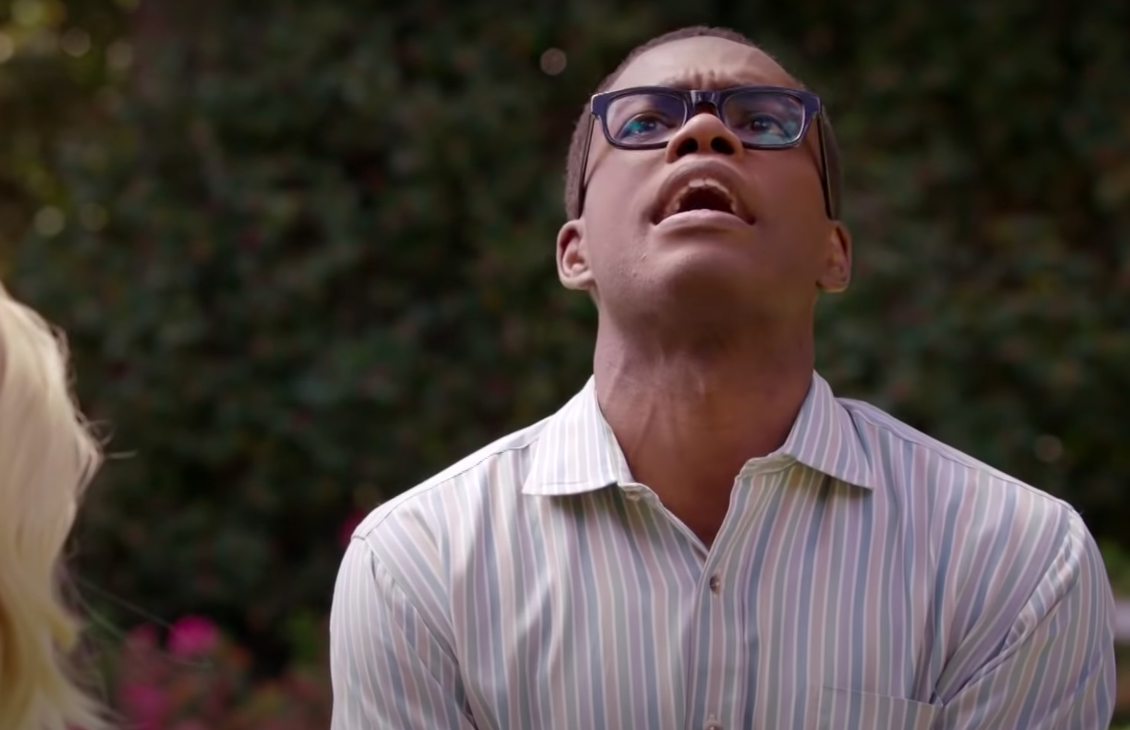 """Chidi from """"The Good Place"""" looking frustrated"""