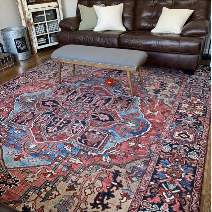 The rug in a living room