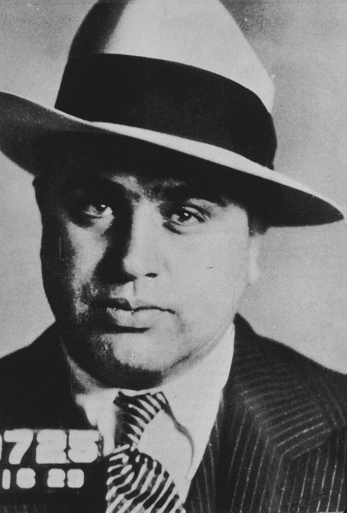 A mug shot of Al Capone