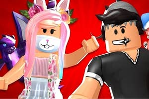 Roblox girl and a boy