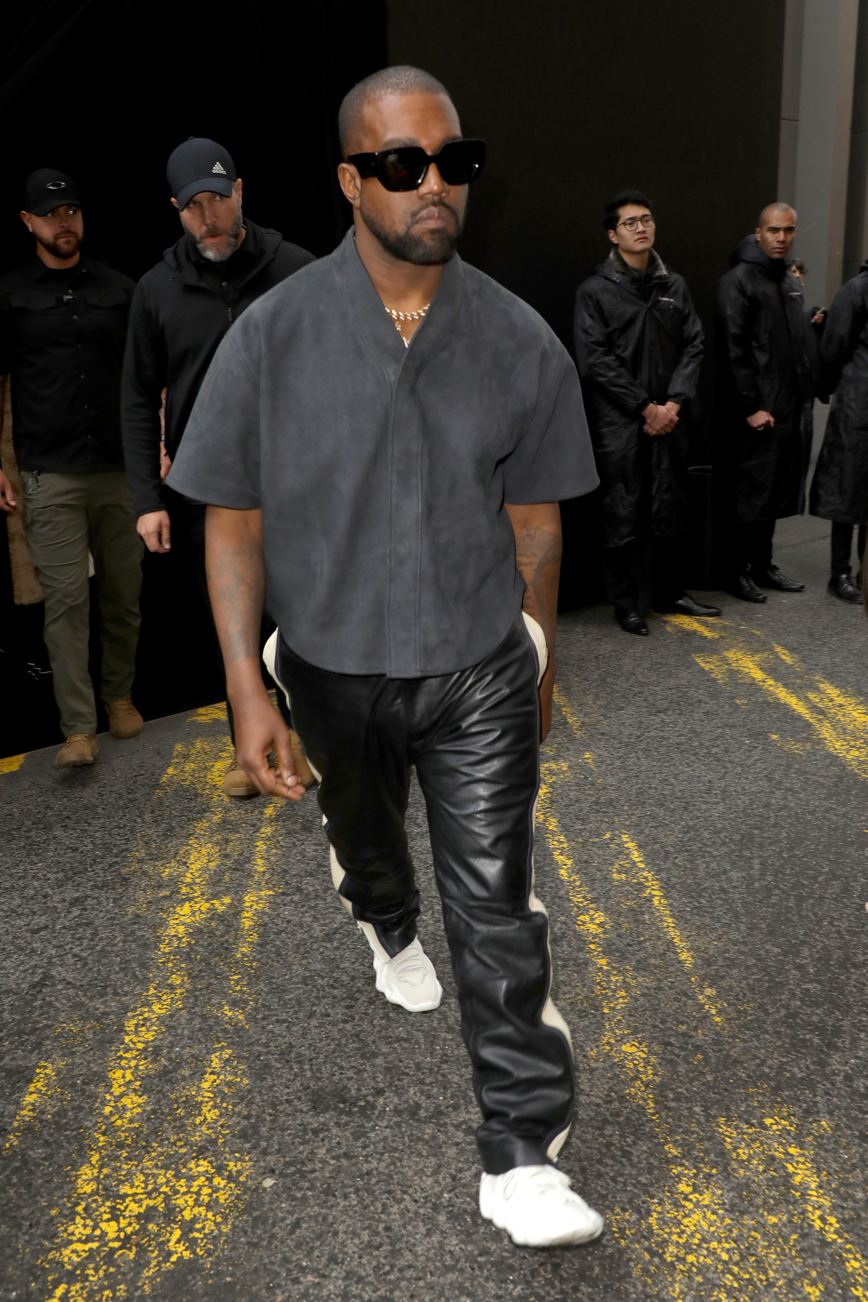 Kanye West attends the Balenciaga show as part of the Paris Fashion Week Womenswear Fall/Winter 2020/2021 on March 01, 2020 in Paris, France