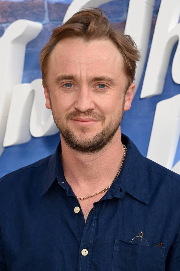"""Tom Felton attends the screening of """"In the Heights"""" at Back Yard Cinema in Wandsworth on June 09, 2021, in London, England"""