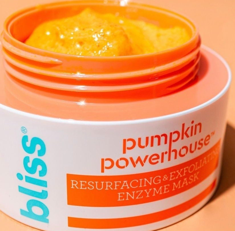 The orange pumpkin mask