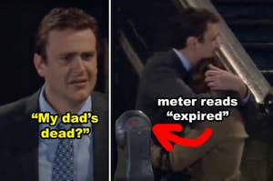 Marshall finding out his dad died in