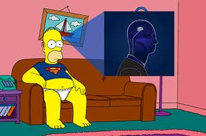 An x-ray showing that homers brain is too small