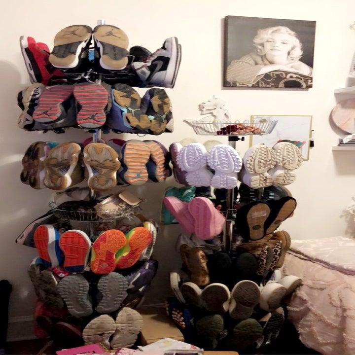 buzzfeed editors shoe tree display