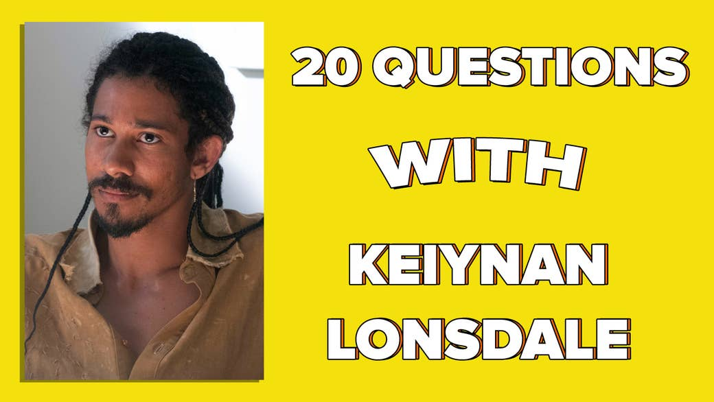 """An image of Keiynan Lonsdale next to text saying """"20 Questions With Keiynan Lonsdale"""""""