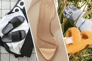 slides, heels, and ugg slides