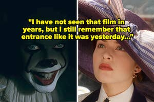 """Pennywise from """"IT"""" side by side with Young Rose from """"Titanic"""""""