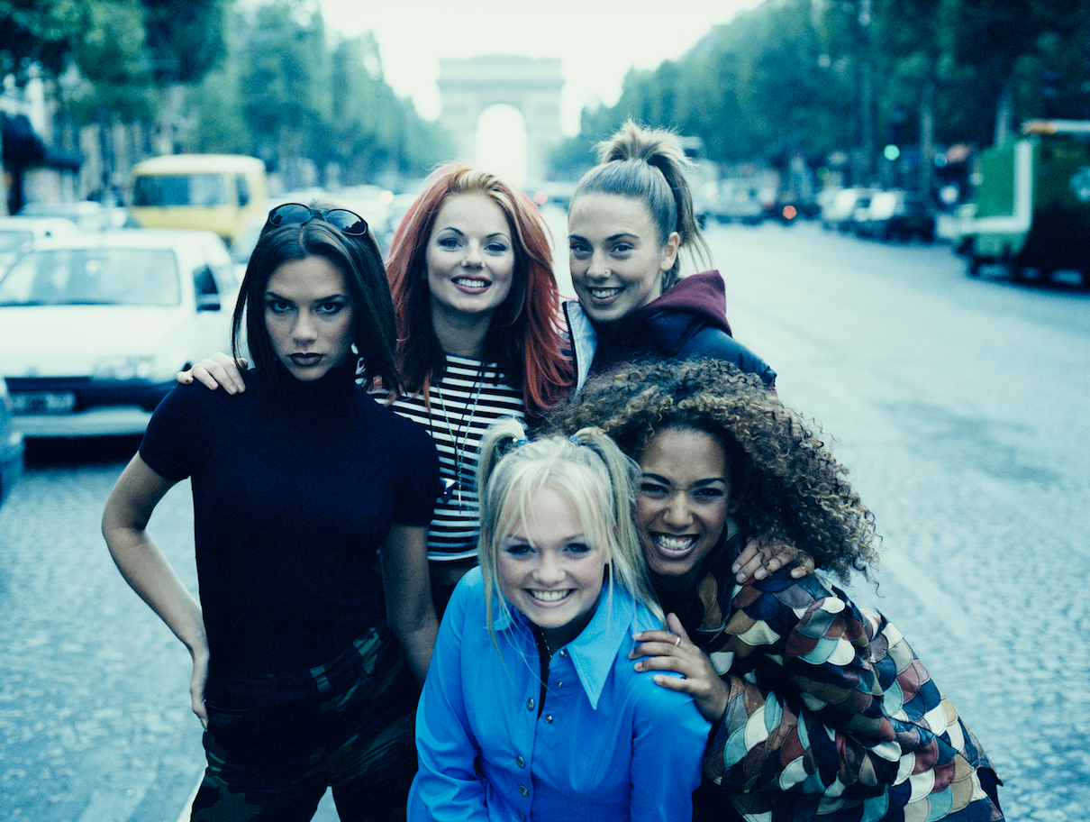 English pop girl group The Spice Girls in Paris, September 1996