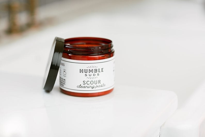 Jar of HumbleSuds Scour Cleaning Paste