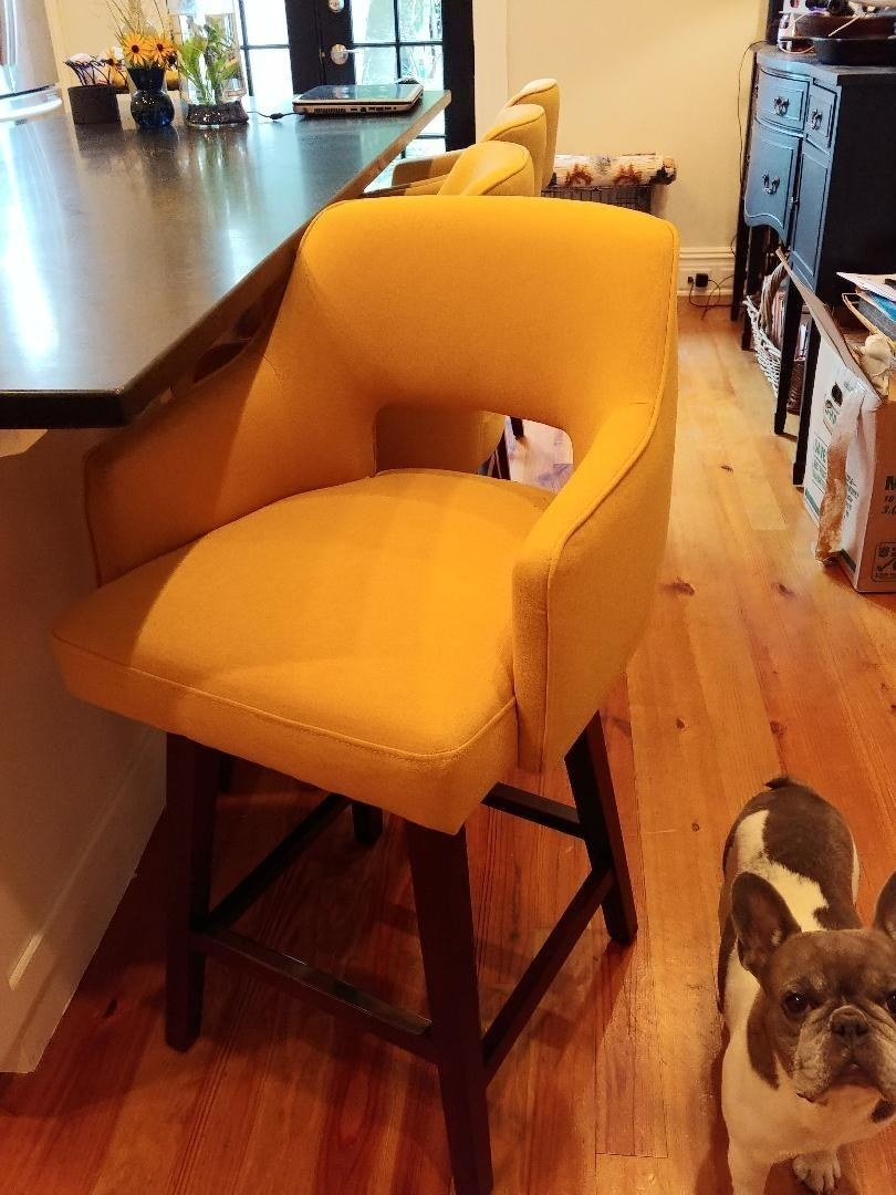 The chair in yellow