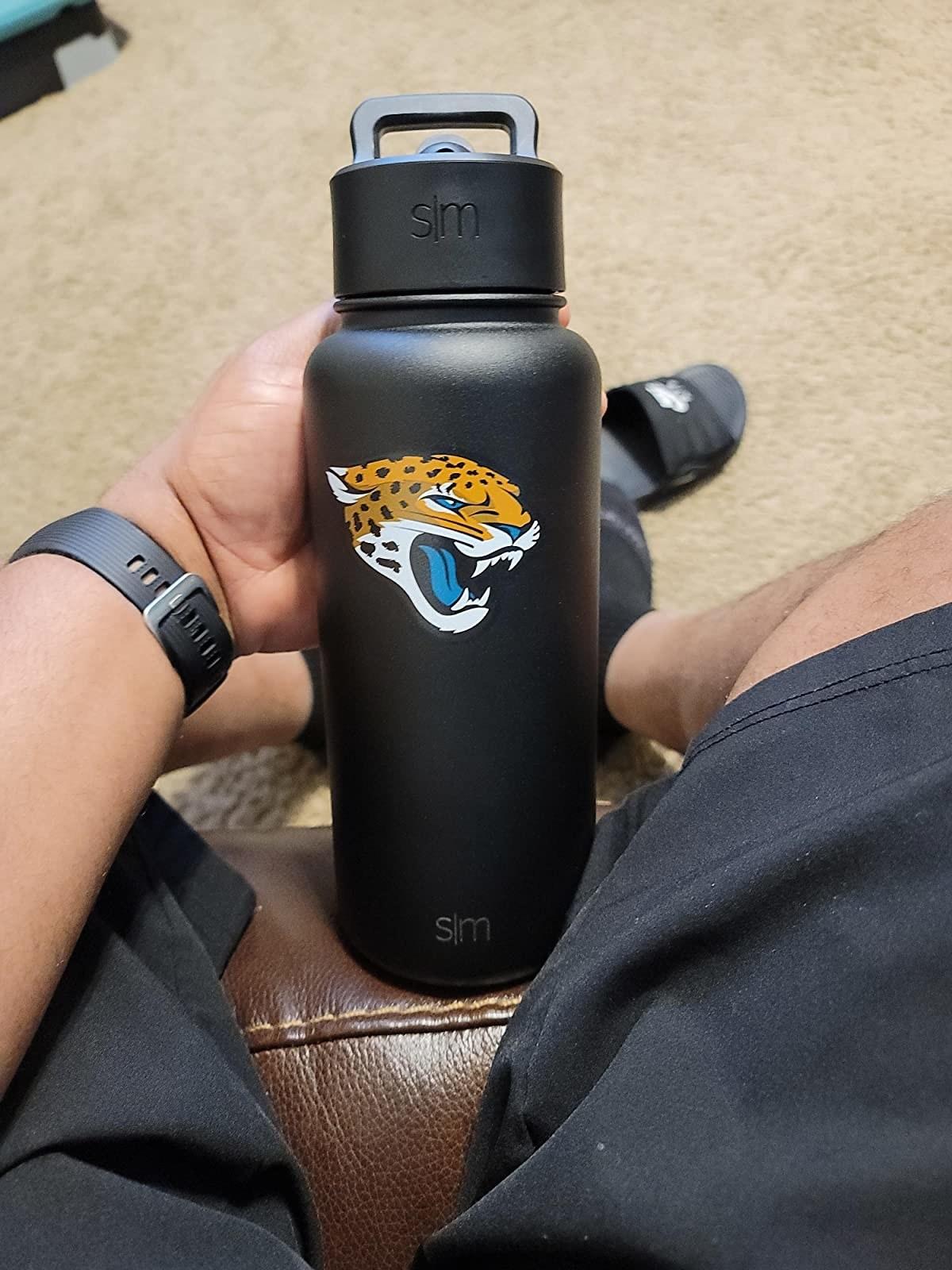 The bottle with a jaguar on it