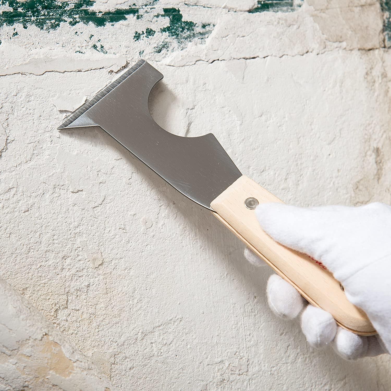 A five-in-one scraper tool