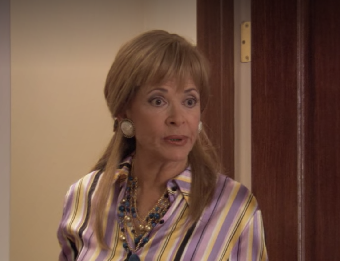 Jessica Walters as Lucille with longer hair and bangs