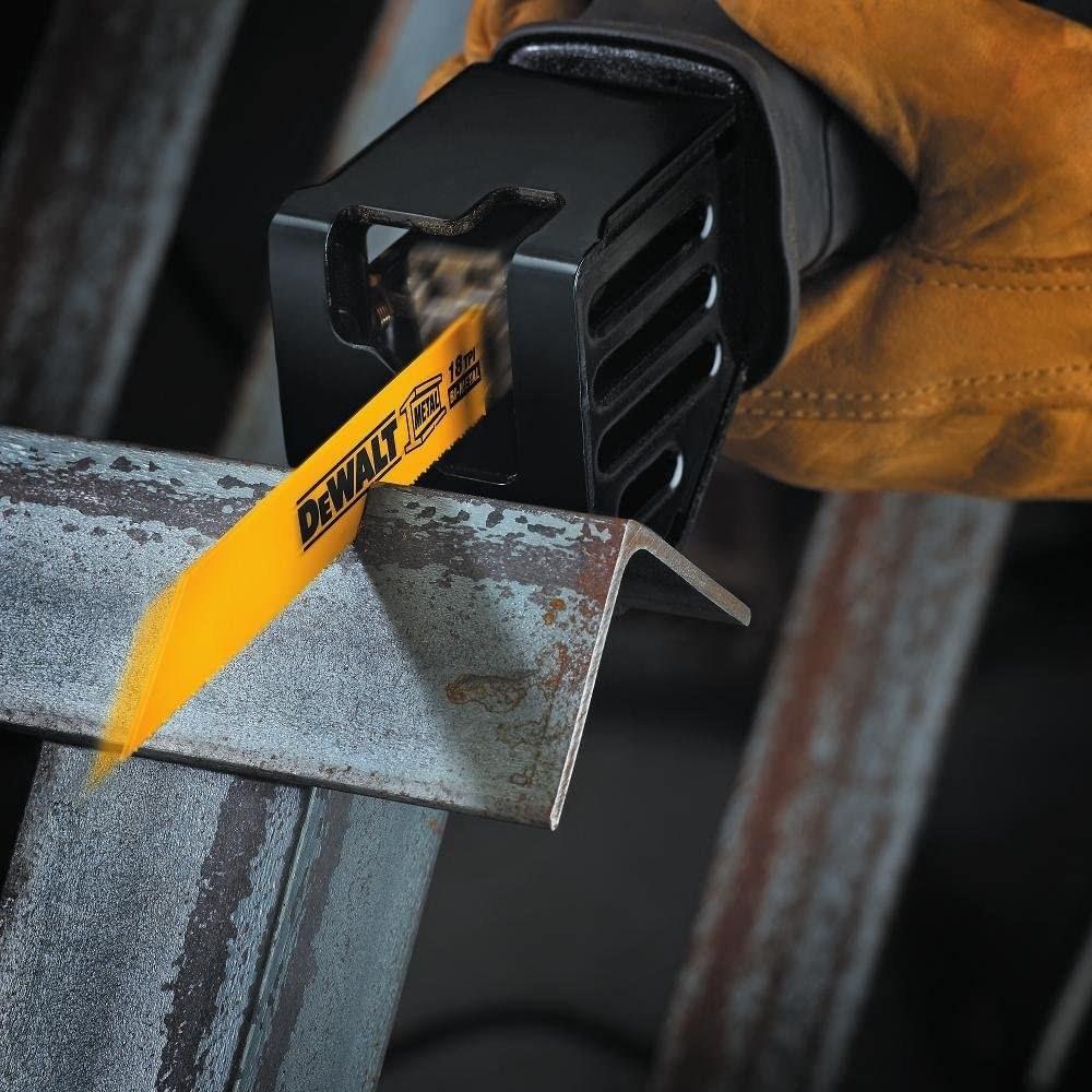 A six-piece metal and wood cutting set