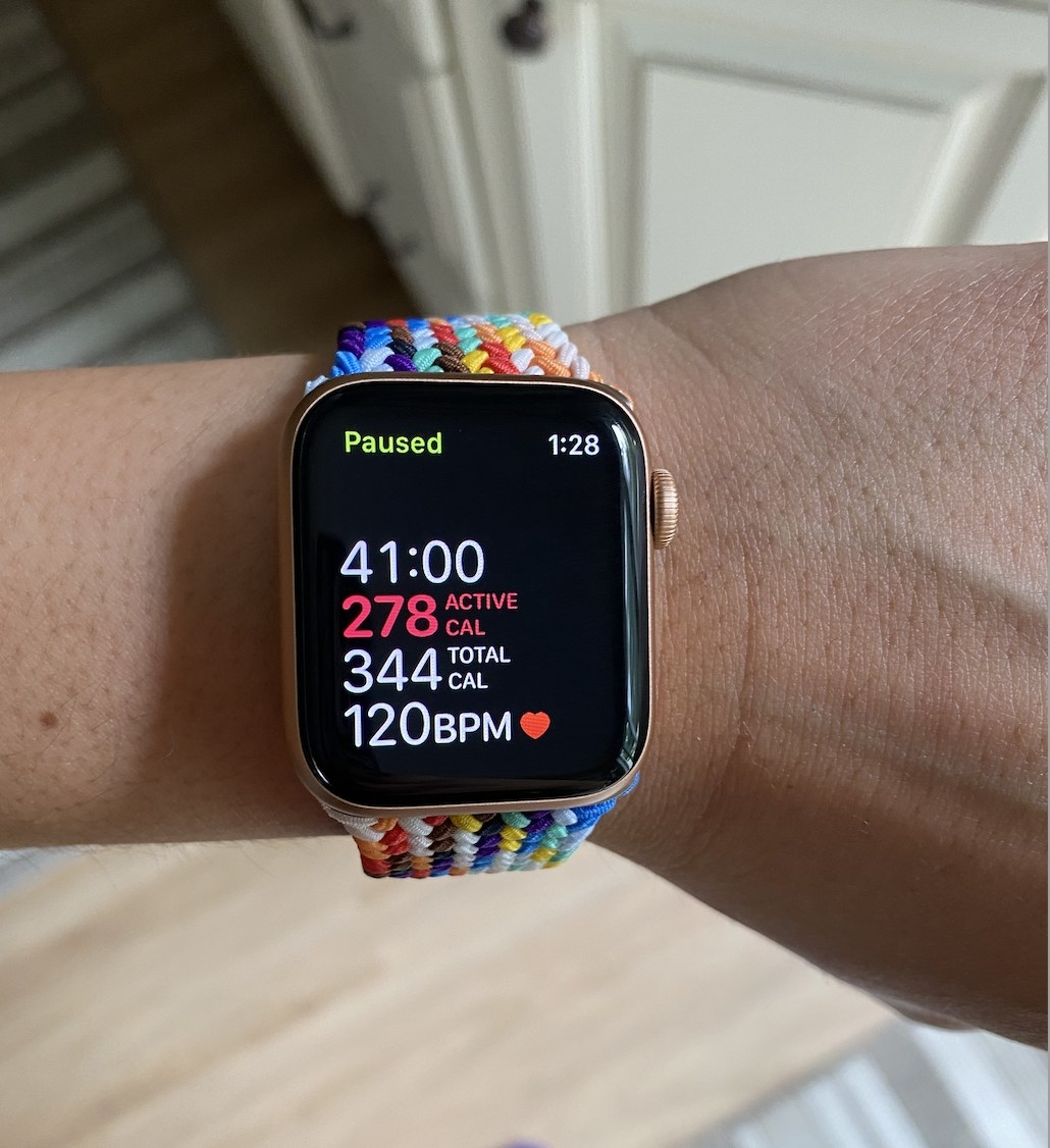 The author's Apple watch