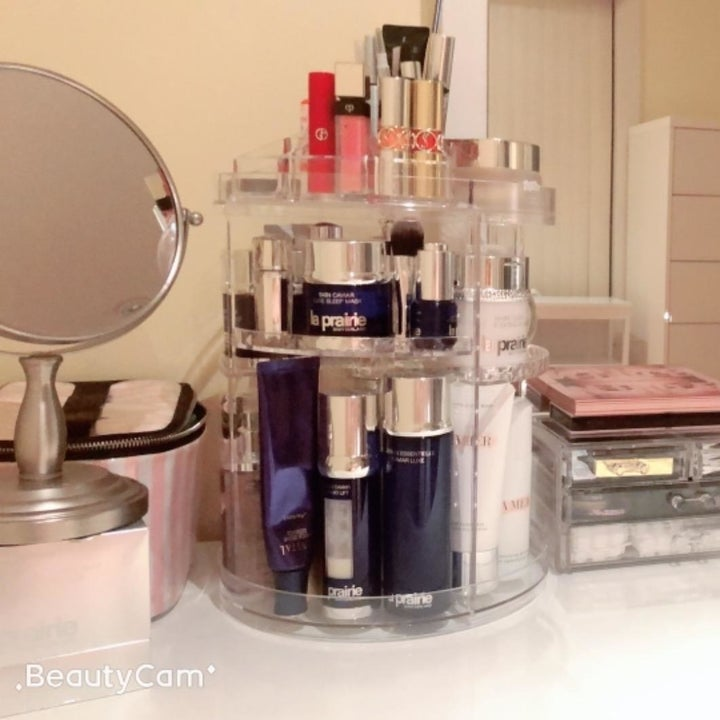 The clear organizer with everything in it