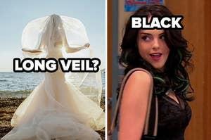 long veil? black hair