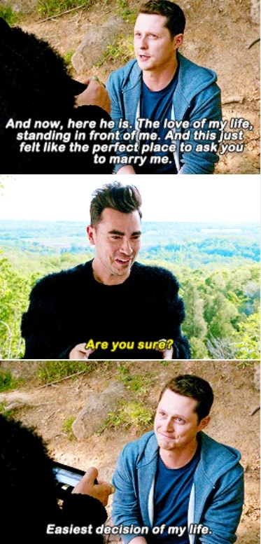 Patrick proposes on a hike with David